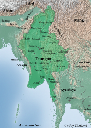 Toungoo dynasty - The restored Taungoo or Nyaungyan Dynasty c. 1650.
