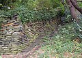 Retaining wall and steps, Sutcliffe Wood, Brighouse - geograph.org.uk - 563253.jpg
