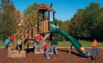 Playscape - Image: Rev Playground Tree House