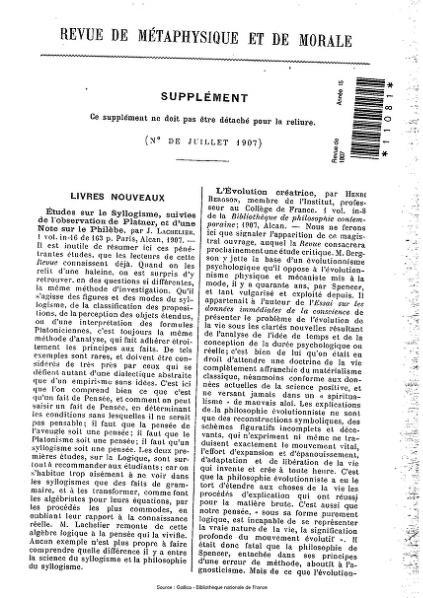 File:Revue de métaphysique et de morale, supplément 4, 1907.djvu