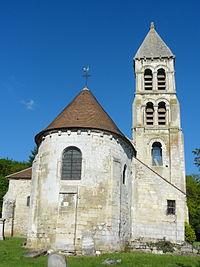 Rhuis (60), église Saint-Gervais-Saint-Protais, vue depuis l'est 2.JPG