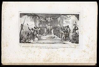 Rideau d'avant scéne exécuté au Théatre de la Cour, pour la réprésentation d'apparat: à l'occasion du Couronnement de l'Empereur D. Pedro 1er