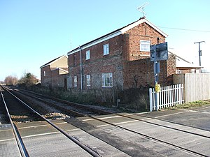 Rillington railway station - Station building now a private house as in 2008