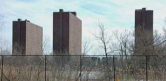 Rindge Towers - Rindge Towers, seen from the north