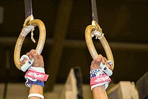 Rings (gymnastics) - Ring grips.