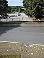 Rivet bench mark and the Little Roodee - geograph.org.uk - 1495414.jpg