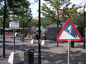 Svenska: Internationell road signs in Kungsträ...