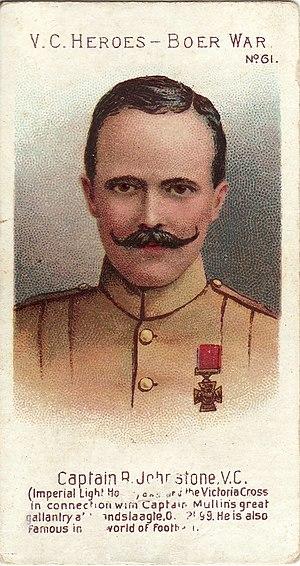 Robert Johnston (VC) - Taddy cigarette card of Johnston
