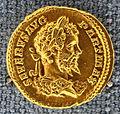 Roma, settimio severo, aureo, 200-201 dc.JPG