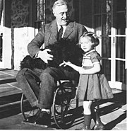 One of only a few known photographs of Roosevelt in a wheelchair.
