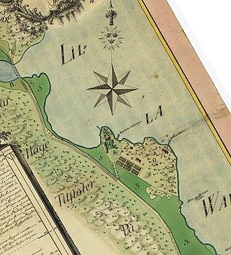 Ropsten - Image: Ropstens gård 1784