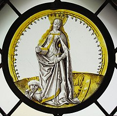 Roundel with Saint Catherine of Alexandria