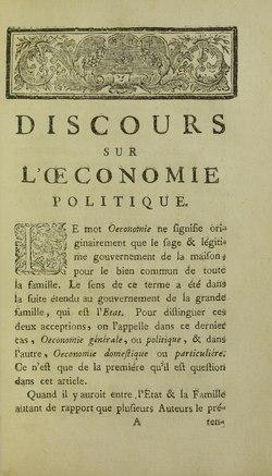 Rousseau - Discours sur l'oeconomie politique, 1758 - 5884558.tif