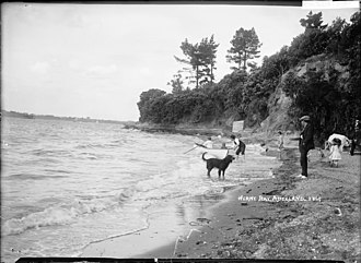 Herne Bay, New Zealand - Rowboat at Herne Bay in the early 1900s