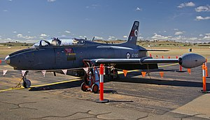 Aermacchi MB-326 - A7-043 (MB-326H) at the RAAF Base Wagga in Australia.