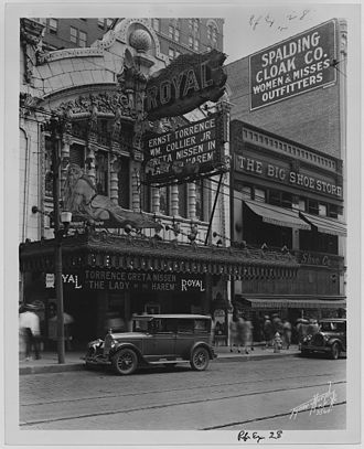 The Lady of the Harem - The Royal Theater in Kansas City showing the film