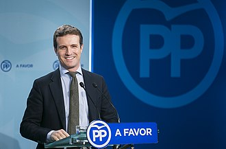 Pablo Casado - During a press conference as Vice Secretary-General of Communication in 2017