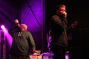 Run the Jewels - Killer Mike (left) and El-P (right) in March 2014