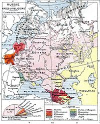 Ethnic Map Of The European Russian Empire Prior To Outbreak World War I