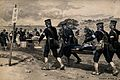 Russo-Japanese War; soldiers bringing in the wounded to an o Wellcome V0015665.jpg