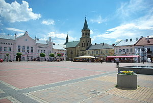 Sanok - Main Market Square in Sanok