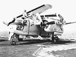 S-2E of VS-28 on USS Saratoga (CVA-60) in 1971.jpg