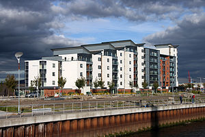 SA1 Swansea Waterfront - Bellway Homes's Altamar apartment block overlooking the Prince of Wales Dock