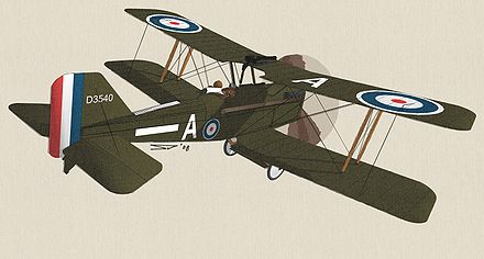 Plan 3 vues du Royal Aircraft Factory S.E.5a