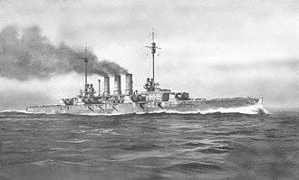 Helgoland-class battleship - Image: SMS Helgoland illustration