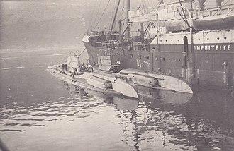 German Type UC II submarine - Image: SM U 35 Hafen