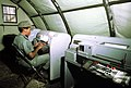 SSGT Geneva P. Brown, 232nd Combat Communications Squadron, Montgomery, Alabama, types a message for transmission on a teletype machine during exercise Bright Star '80 - DPLA - 555b11a248a19d686589df286d82e58a.jpeg