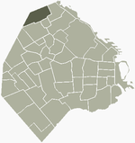 Location of Saavedra within Buenos Aires