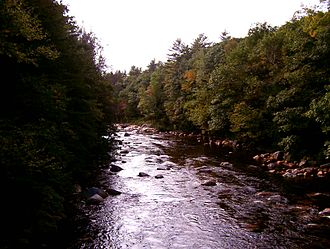 Saco River - The Saco River from the Covered Bridge Gift Shoppe
