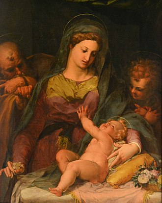 Peter Candid - The Holy Family with St. John