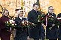 Saeimas priekšsēdētāja piedalās restaurētā Brīvības pieminekļa atklāšanā (37531335500).jpg