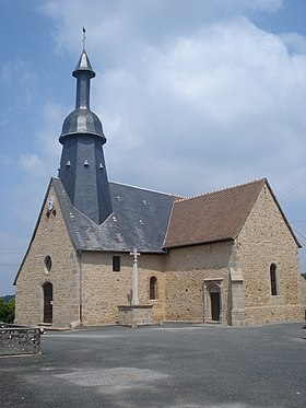 Saint-Germain-Beaupré (Creuse, Fr), l'église.JPG