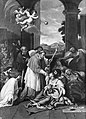 Saint Carlo Borromeo ministering to the plague victims. Oil Wellcome L0010215.jpg