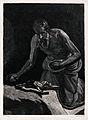 Saint Jerome. Etching by Lemus y Olmo after L. Tristan de Es Wellcome V0032280.jpg