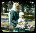 Saint Petersburg. Peterhof Palace Park grandmother and child.jpg