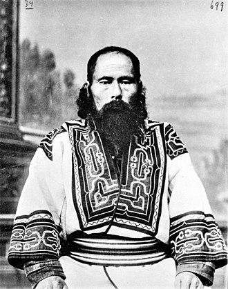 Bronisław Piłsudski - A Sakhalin mixed-blood Ainu-Russian man, photographed by Bronisław Piłsudski ca. 1905