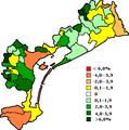Saldo naturale nei vari comuni della provincia di Venezia.png