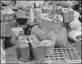 Salinas, California. Baggage belonging to evacuees of Japanese ancestry has been brought to the pa . . . - NARA - 536170.tif