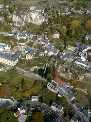 An aerial view of Salles-la-Source