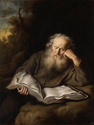 Salomon Koninck - The Hermit by Salomon Koninck