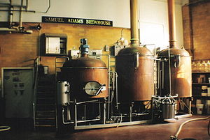 Boilers at the Samuel Adams brewery