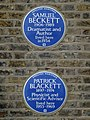 Samuel Beckett 1906-1989 dramatist and author lived here in 1934 + Patrick Blackett 1897-1974 physicist and scientific advisor lived here 1953-1969.jpg