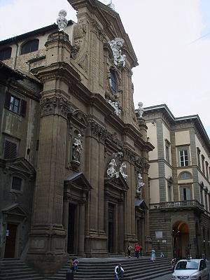 San Gaetano, Florence - Façade of San Gaetano.