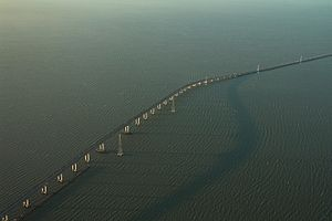 San Mateo-Hayward Bridge crossing San Francisc...