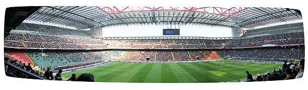 Сайт футбольного стадиона милан- интер