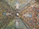 San vitale, ravenna, int., presbiterio, mosaici volta e arcone 09.JPG
